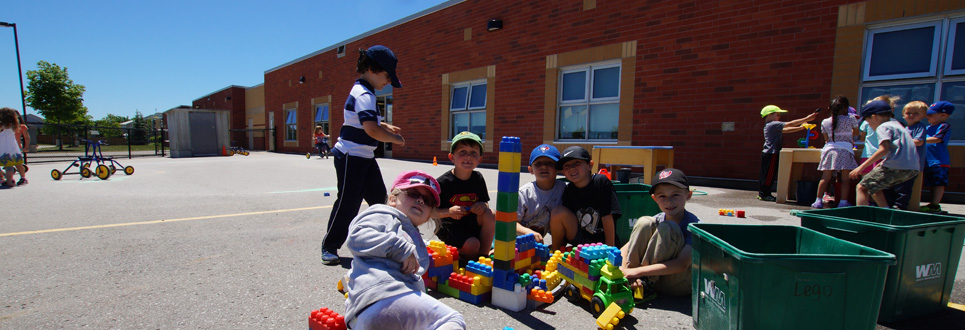 Students playing outside during recess